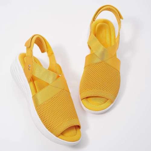 Women'S Adjustable Wedge Knit Sandals