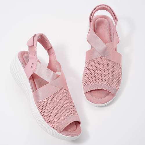 Women'S Adjustable Wedge Knit Sandals