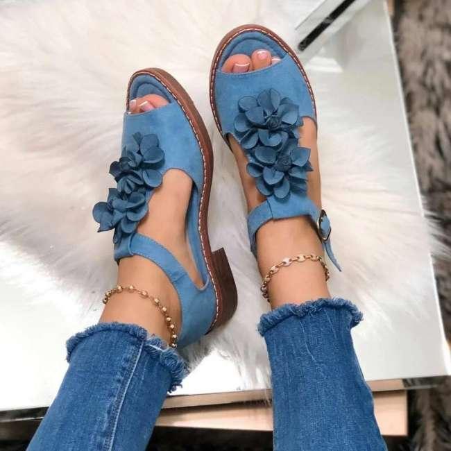 Women's Floral Flat Sandals