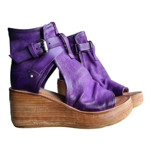 Women's Comfy Wedge Buckle Sandals