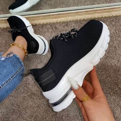 Women Casual Fashion Synthetic Animal Print Lace-up Sneakers