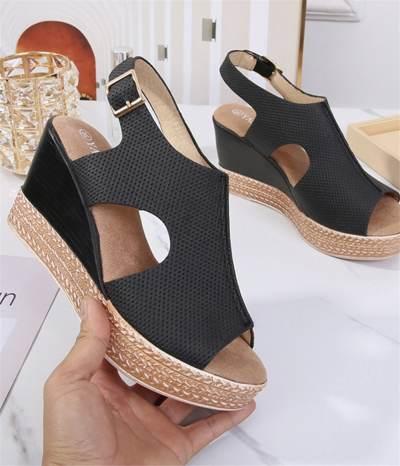 High Heels Platform Heels Fish Mouth Wedge Sandals
