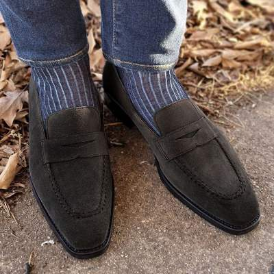 Vintage British Suede Leather Men's Casual Shoe
