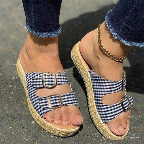 Platform Buckle Sandals