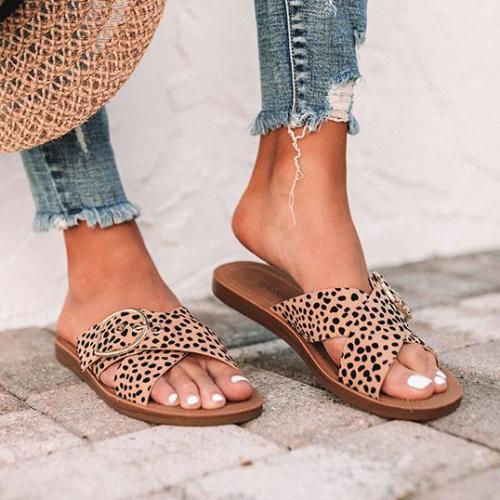 Women's Chic Cheetah Print Sandal