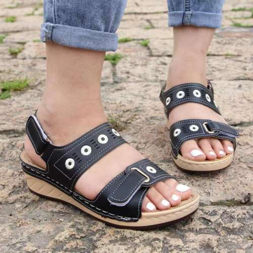 Women's Vintage Multi-color Wedge Sandals