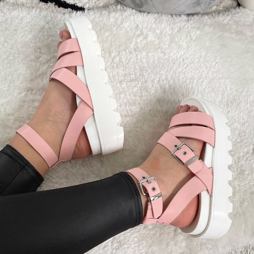 Sabrina Strappy Buckle Sandals
