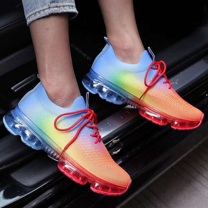 🚨NewColor🚨Lace-Up Round Toe Flyknit Sneakers(Buy 2+ Get Free Shipping🔥🔥🔥)
