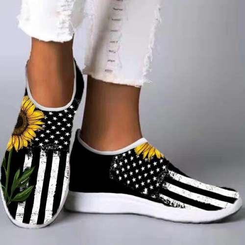 Flyknit Fabric Sporty Sneakers