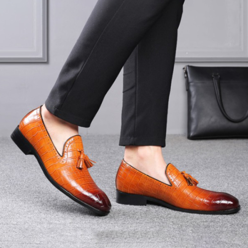 Men's Pointed Toe Business Dress Shoes
