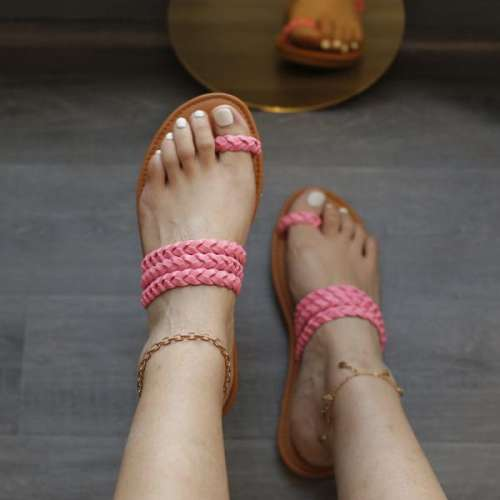 Womens Hand-woven Casual Flip Flops