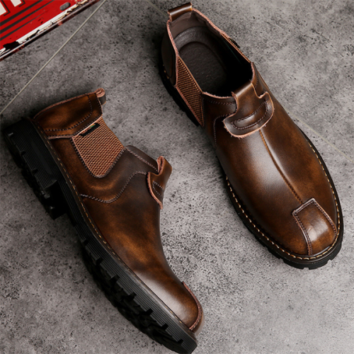 Men's Handmade PU Leather Fashion  Boots