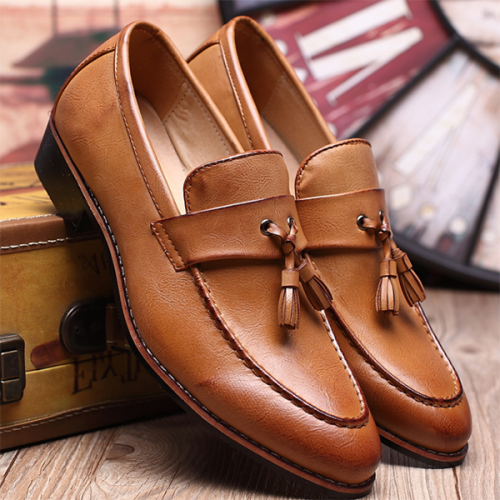 Men's New Flat Business Casual Leather Shoes