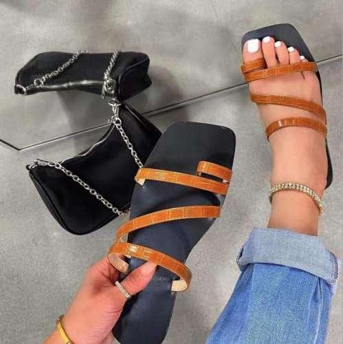 Ladies Comfortable Square Sandals