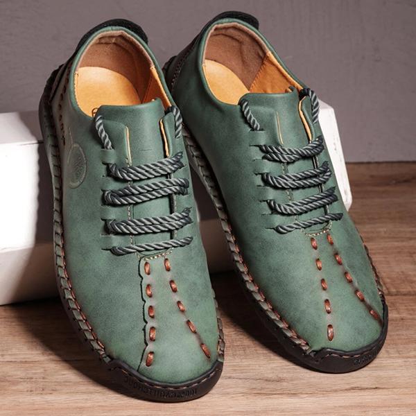 Men's Casual Cowhide Soft Surface Trend Shoes