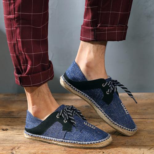 Men's Summer Linen Trend Fashion Casual Shoes