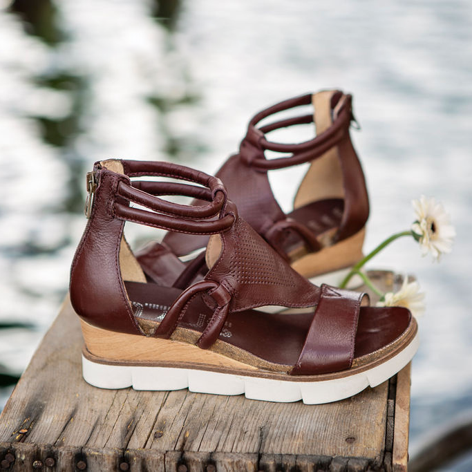 Women's Zipper Flat Heel Sandals