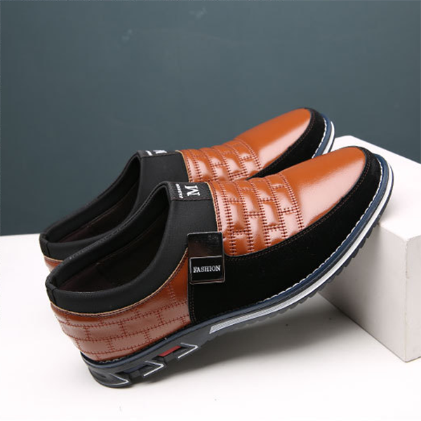 New Men's Casual Cowhide Soft Surface Trend Shoes