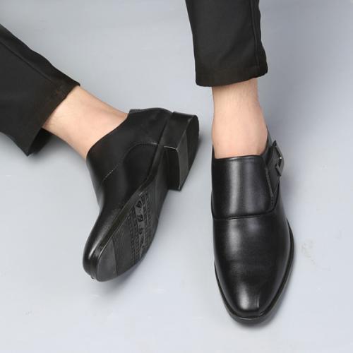 New Men's Handmade Fashion Crocodile Pattern Leather Shoes