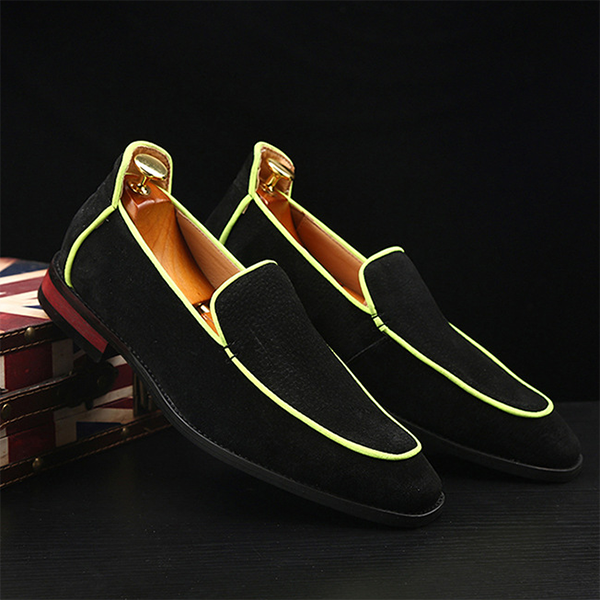 Men's Two-piece Pointed Toe Low-top Business Leather Shoes