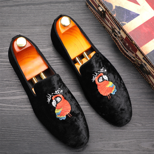 Youth Personality Casual Breathable Fashion Embroidered Loafers