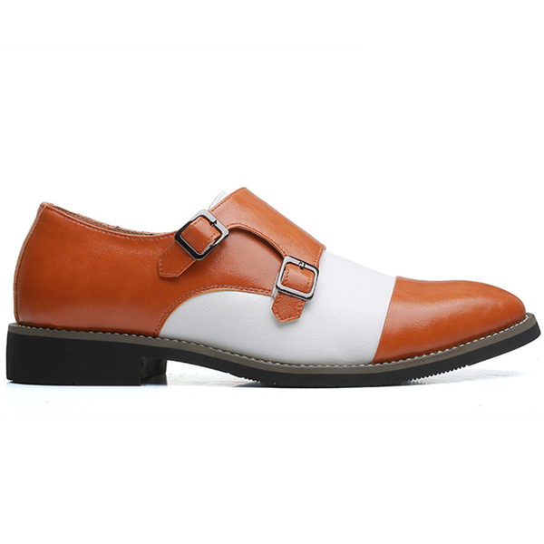 Men's Fashion Color Matching Trend British Style Pointed Toe Shoes