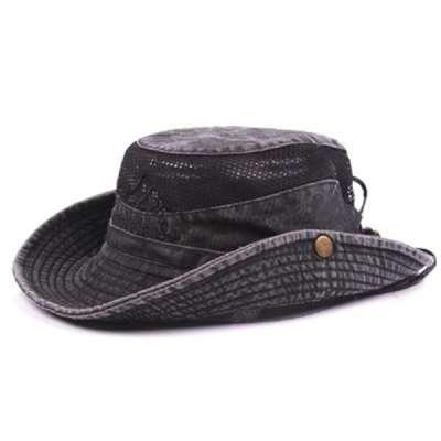 Embroidery Visor Bucket Hat Fisherman Hat Outdoor Mesh Sunshade Cap