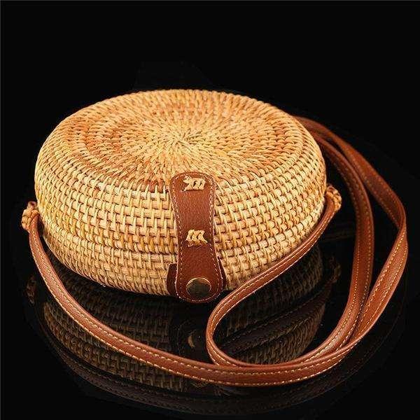 Handmade Women's Straw Shoulder Bag