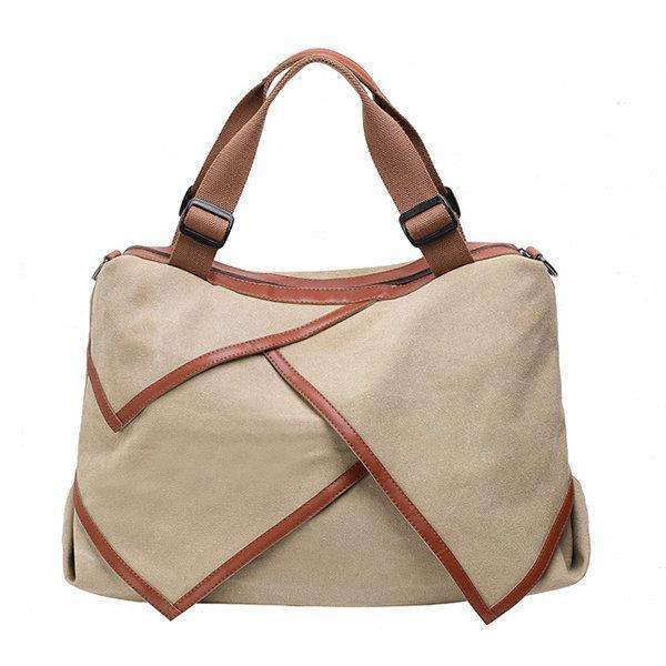 Canvas Large Capacity tote bag Patchwork Leisure Crossbody Bag