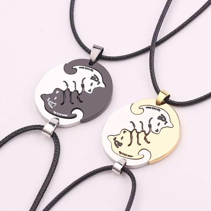 Cute Dog Couple's Necklaces