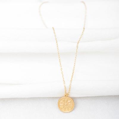 Women's Vintage Sun Pattern Necklace