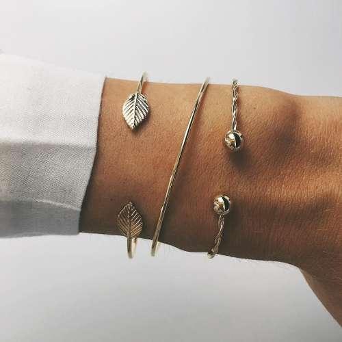 Trend Fashion Leaf Bracelets Jewelry