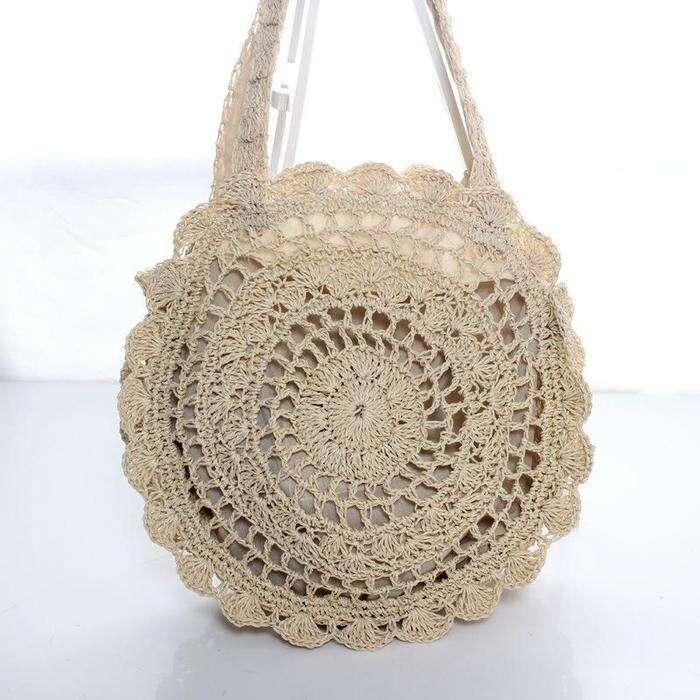 Women's Casual Woven  Beach Summer Straw Shoulder Bags