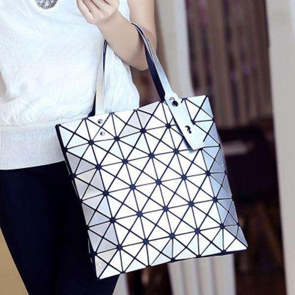 Women Diamond Pattern Handbag Causal Shoulder Bag