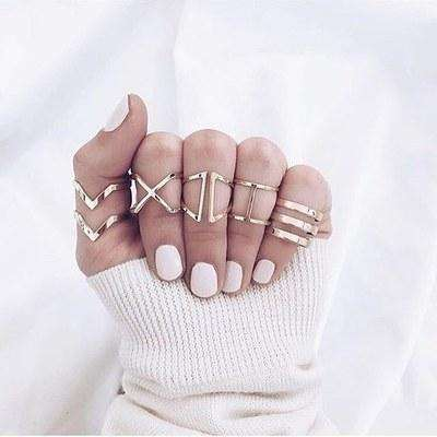 V X Type Hollow Ring Sets