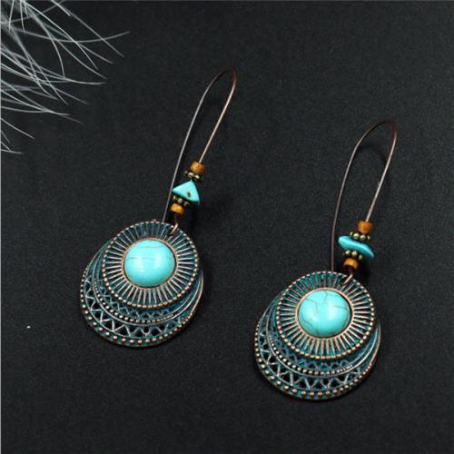 Retro Vintage Earring Turquoise Earring Dangle Earring Drop Earrings