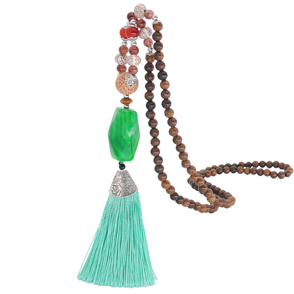 Necklaces - Ethnic Style Long Tassel Necklaces