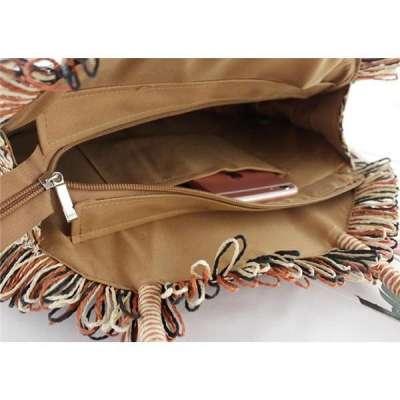 Handmade Round Straw Handbag