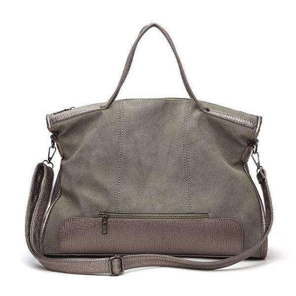 Large Capacity Handbag Solid Stitching Casual Crossbody Bag