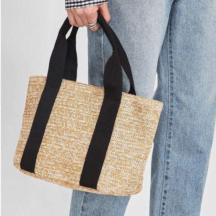 Women's Casual Beach Style Woven Cotton Shoulder Bags