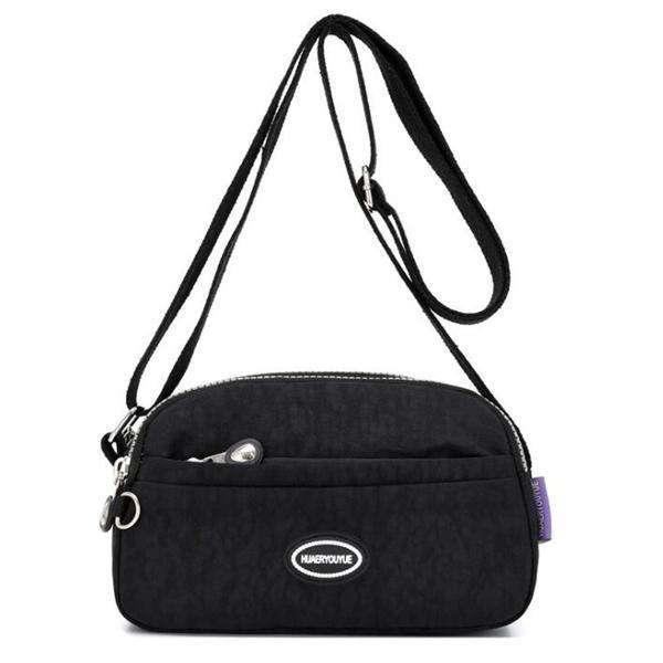 Fashion Nylon Solid Waterproof Multifunctional Zipper Crossbody Bags