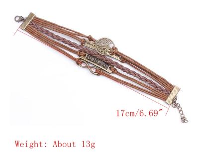 Vintage Unisex Multilayer Bracelet  Alloy Casual Bracelets
