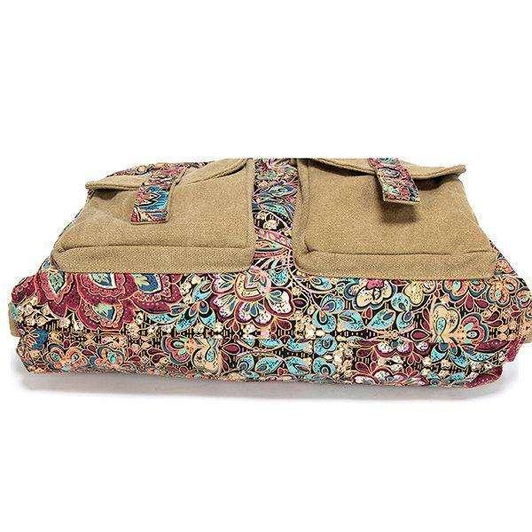 Vintage National Style Canvas Handbag Casual Crossbody Bag