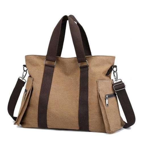 Canvas Large Capacity Patchwork Handbag