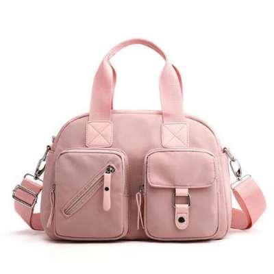 Stylish Nylon Solid Multi-pocket Multifunctional Zipper Handbags