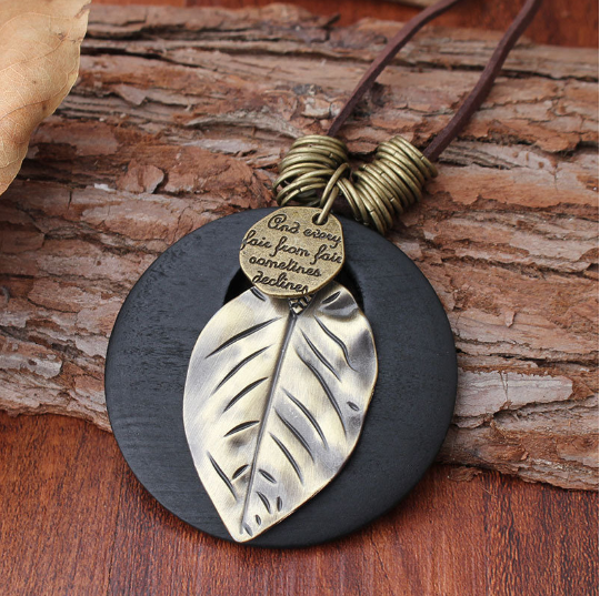 Vintage Leather Rope Long Necklaces