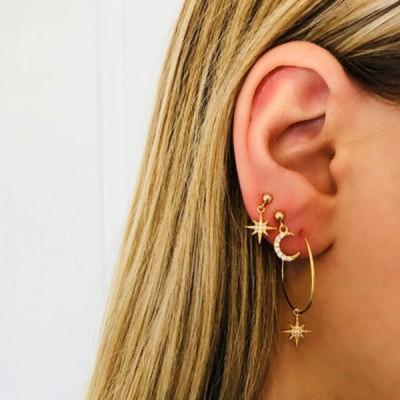 Jewelry-Super Cute Star Moon Earrings