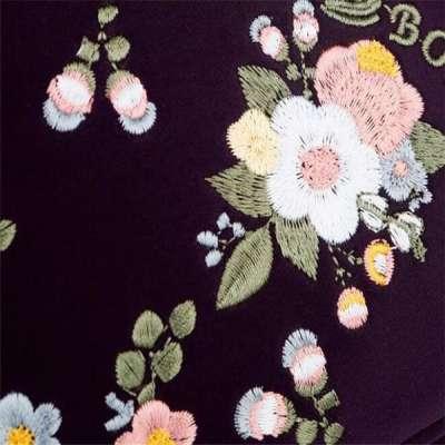 Luxury Embroidery Women Waterproof Nylon Crossbody Bags