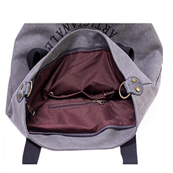 Pentagram Casual Canvas Large Capacity Shoulder Bag  Handbag
