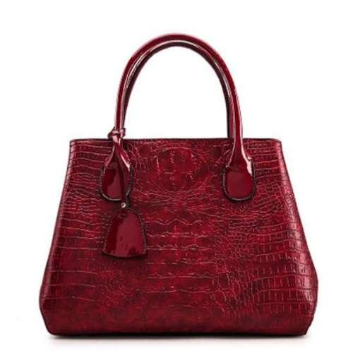Women Crocodile High-End Vintage PU Leather Handbag